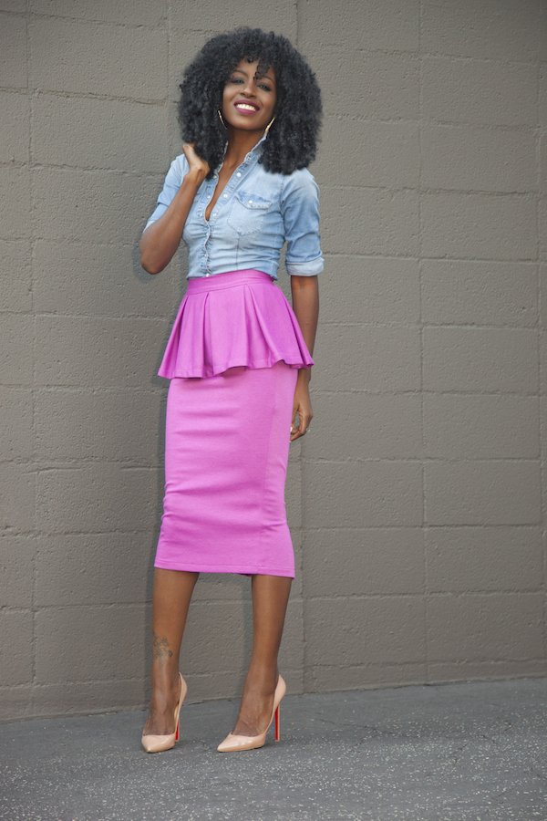 Peplum Top And Midi Skirt - Skirts