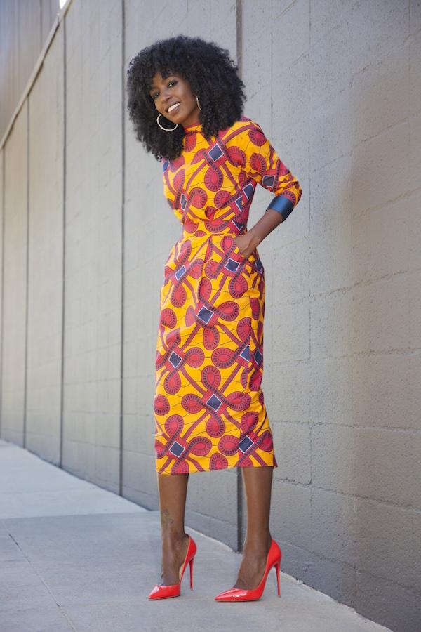 Style Pantry Stella Jean Printed Midi Dress