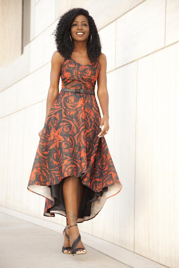 Style Pantry Silk Printed Midi Dress