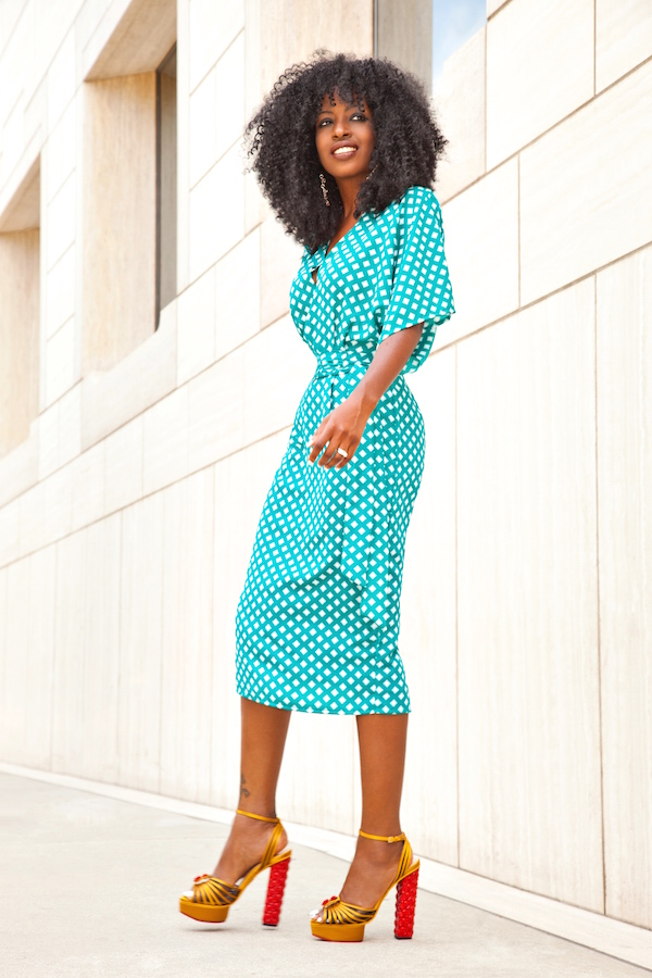 Style Pantry Printed Tunic Midi Dress