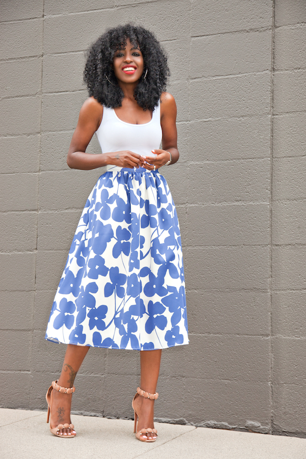Style Pantry | Fitted Tank   Full Midi Skirt