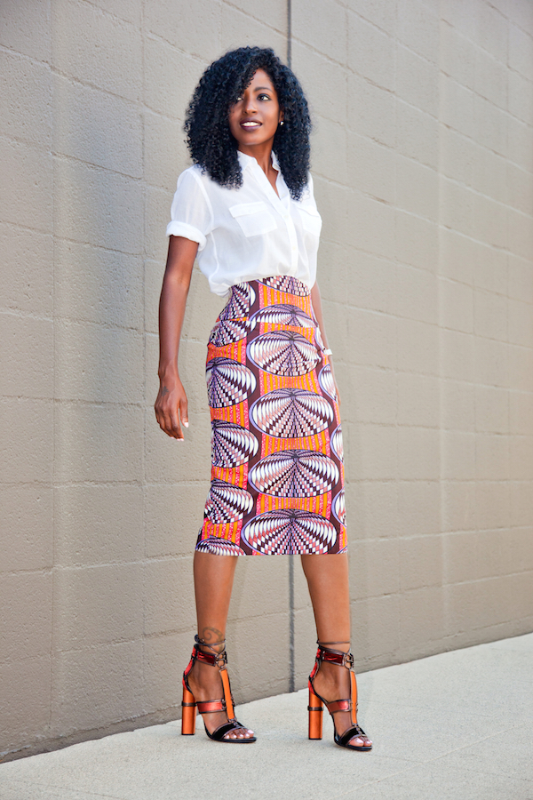 Style Pantry | print pencil skirt