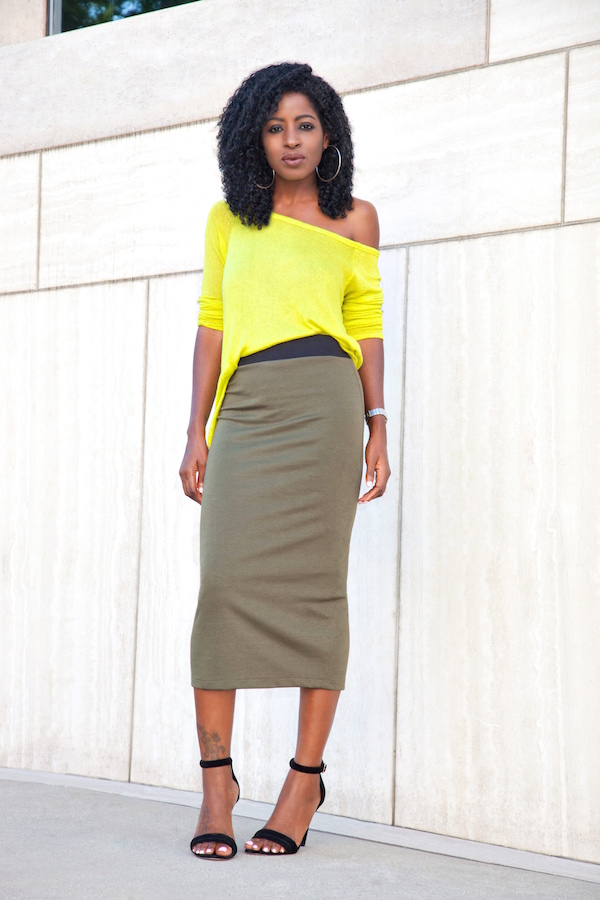 Style Pantry | midi pencil skirt