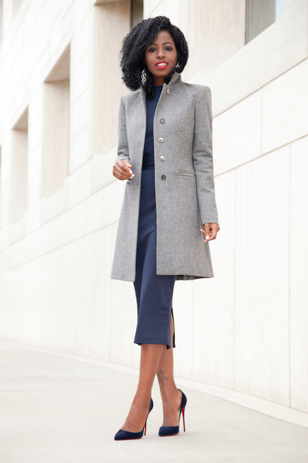 Grey Coat Dress - JacketIn
