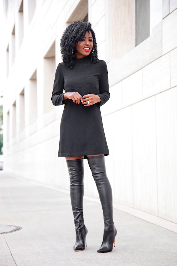 Black dress boots up to knee – Dresses store
