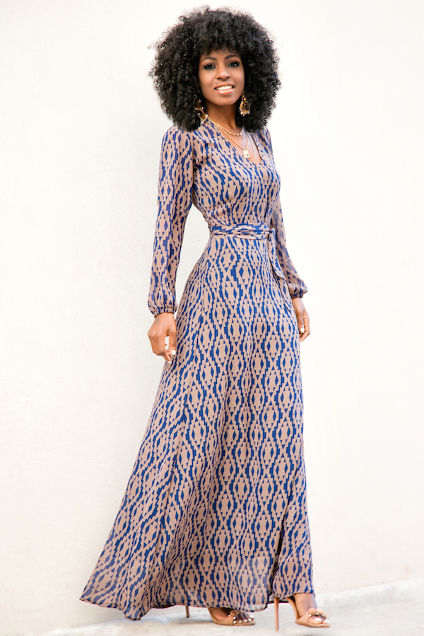 Style Pantry  long sleeve maxi dress