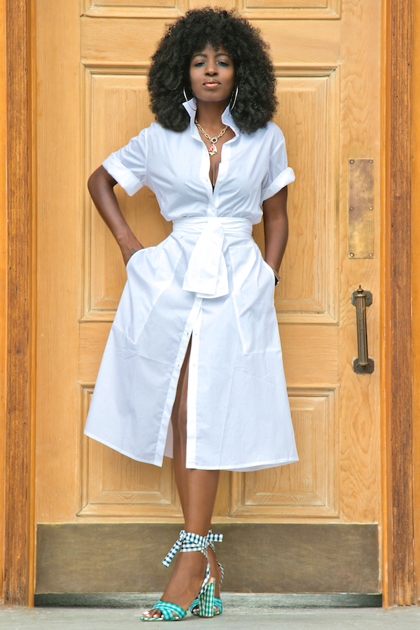 style pantry crisp white shirt dress