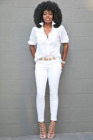 Boyfriend Shirt + Ankle Length Jeans