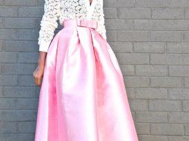 Paisley Lace Blouse + Full Pleated Midi Skirt