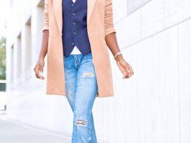 Cocoon Coat + Waist Coat + Stiletto Jeans