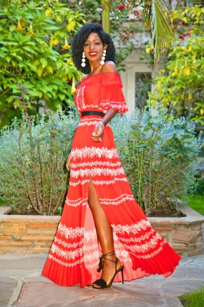 Christmas 2016 Outfit: Off Shoulder Maxi Dress