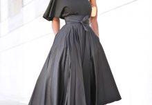 e080558006e0f9 One Shoulder Top + Belted Front Slit Skirt