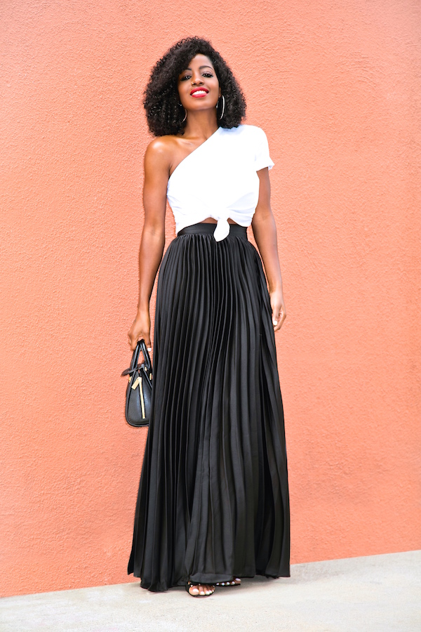 styling pleated maxi skirt www imgkid the image