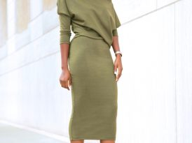 Slouchy Off Shoulder Midi Dress