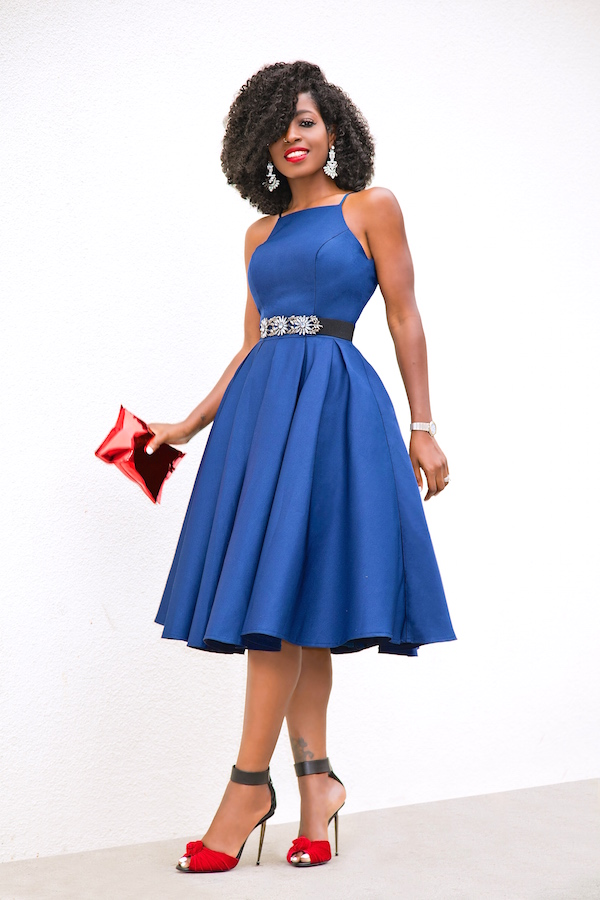 navy prom gown