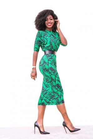Printed Dolman Sleeve Midi Dress