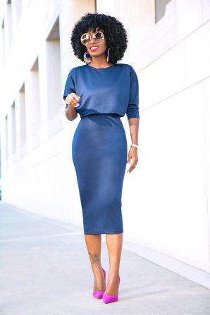 Combo Crop Top Midi Dress