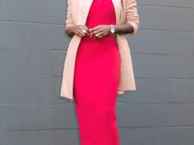 Cocoon Coat + Crew Neck Midi Dress
