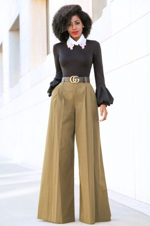 Long Bell Sleeve Top + Super Flare Pants