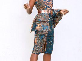 Peplum One Shoulder Dress