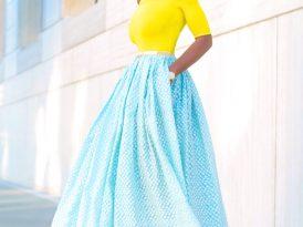 Bardot Fitted Top + Tea Length Print Skirt