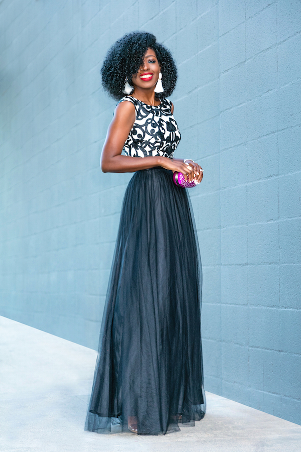 Style Pantry Walmart Glam Evening Look 2 Embroidered Black
