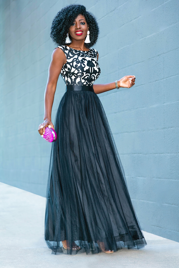 Style Pantry | Walmart Glam Evening Look 2: Embroidered Black ...