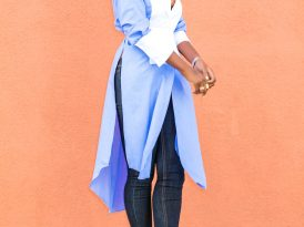 Contrast Tunic + Dark Rinse Jeans