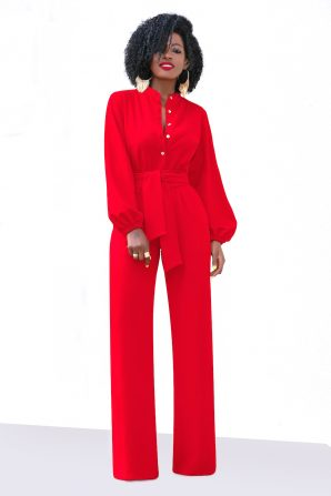 Bell Sleeve Wide Leg Jumpsuit