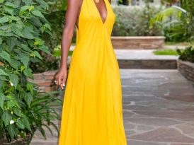 Yellow Halter Maxi Dress
