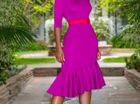Midi Dress w/ Ruffle Hem
