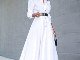 Tea Length Shirt Dress