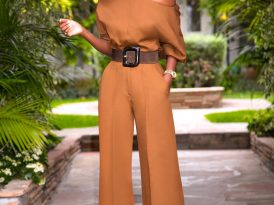 Off Shoulder Blouse + High Waist Pants