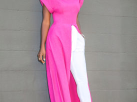 Front Slit Maxi Top + Belted Cigarette Pants