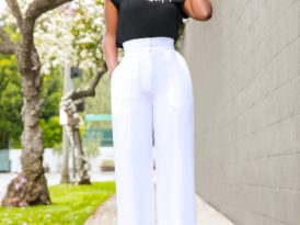 Eternal Glory Tee + White High Waist Pants