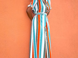 Striped Maxi Shirtdress