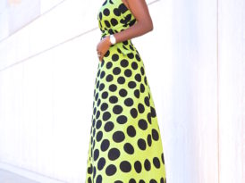 Polka Dot Wrap Skirt Worn As A Dress