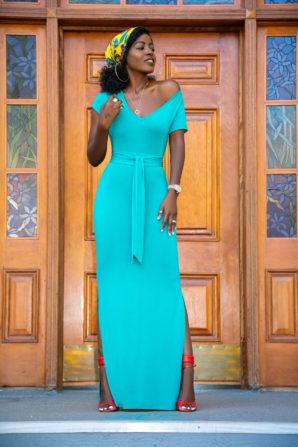 Emerald Jersey Tee Shirt Dress