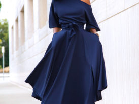 Off Shoulder Swing Midi Dress