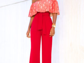 Off Shoulder Crop + Belted High Waist Pants