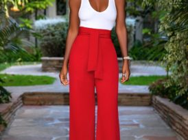 Fitted Blazer + Tank Bodysuit + Belted High Waist Pants