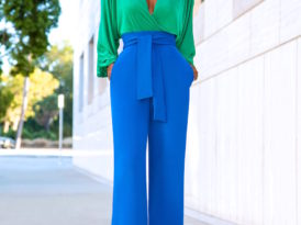 Billowy Sleeve Bodysuit + Belted High Waist Pants
