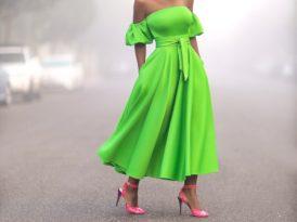 Off Shoulder Billowy Sleeve Dress