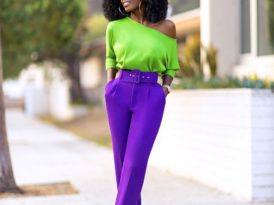 Off Shoulder Knit Top + Belted Ankle Length Pants