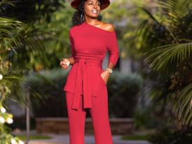 Off Shoulder Belted Tunic + High Waist Pants