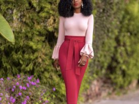 Bell Sleeve Top + Belted Pencil Skirt